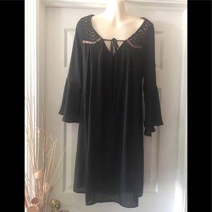 Boho Style Black Dress Size Large